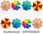 multicolored umbrella ... | Shutterstock . vector #1095503825