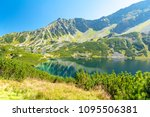 valley of five ponds in tatra... | Shutterstock . vector #1095506381