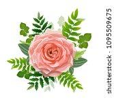 wedding invitation card. lovely ... | Shutterstock .eps vector #1095509675