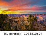 tourists enjoy  beautiful... | Shutterstock . vector #1095510629