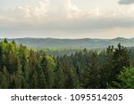 mountain forest of the saxon... | Shutterstock . vector #1095514205