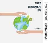 world environment day concept... | Shutterstock .eps vector #1095517469