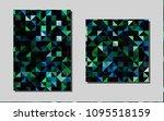 dark blue  greenvector brochure ...