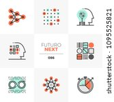 modern flat icons set of... | Shutterstock .eps vector #1095525821