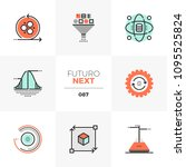 modern flat icons set of data... | Shutterstock .eps vector #1095525824