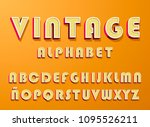 high quality vintage alphabet... | Shutterstock .eps vector #1095526211