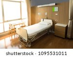 recovery room with bed and... | Shutterstock . vector #1095531011