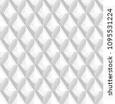 seamless 3d white diamond... | Shutterstock .eps vector #1095531224