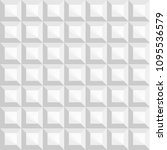 seamless 3d white square... | Shutterstock .eps vector #1095536579