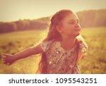 beautiful smiling kid girl... | Shutterstock . vector #1095543251