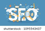 seo concept illustration. idea... | Shutterstock .eps vector #1095543437
