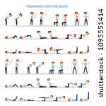 fitness exercises set. woman... | Shutterstock .eps vector #1095551414