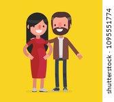 cute senior couple vector...   Shutterstock .eps vector #1095551774