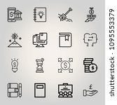 outline business 16 vector...
