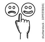 Hand With Like And Dislike...