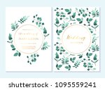 wedding invitation  thank you... | Shutterstock .eps vector #1095559241