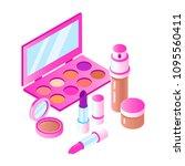vector isometric cosmetics... | Shutterstock .eps vector #1095560411