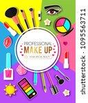 make up paper art background....   Shutterstock .eps vector #1095563711