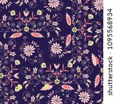 floral pattern. vector...   Shutterstock .eps vector #1095568934