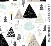 mountain landscape. childish... | Shutterstock .eps vector #1095570557