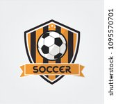 soccer football badge logo... | Shutterstock .eps vector #1095570701