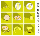 set of traditional food icons. | Shutterstock .eps vector #1095571451