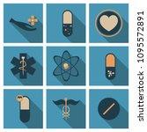 medicine  pharmacy  hospital... | Shutterstock .eps vector #1095572891