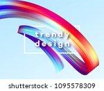 modern colorful flow poster.... | Shutterstock .eps vector #1095578309