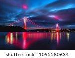 yavuz sultan selim bridge in... | Shutterstock . vector #1095580634