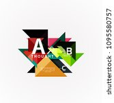abstract geometric option...   Shutterstock .eps vector #1095580757