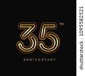 35 years anniversary... | Shutterstock .eps vector #1095582521