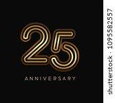 25 years anniversary... | Shutterstock .eps vector #1095582557