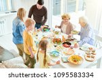 portrait of happy family... | Shutterstock . vector #1095583334