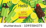 hello summer special offer... | Shutterstock .eps vector #1095584375