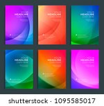 modern abstract annual report ... | Shutterstock .eps vector #1095585017
