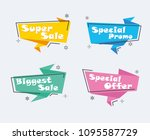 collection of sale discount... | Shutterstock .eps vector #1095587729