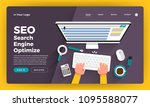 mock up design website flat... | Shutterstock .eps vector #1095588077