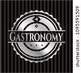 gastronomy silvery badge | Shutterstock .eps vector #1095591509