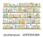 sketch of people teamwork ... | Shutterstock .eps vector #1095594284