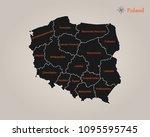 map of poland | Shutterstock .eps vector #1095595745