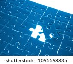 missing jigsaw puzzle piece... | Shutterstock . vector #1095598835