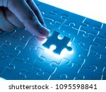 missing jigsaw puzzle piece... | Shutterstock . vector #1095598841