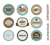 set of retro badge collection | Shutterstock .eps vector #109560449