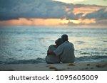 happy elderly couple resting | Shutterstock . vector #1095605009