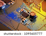electronic circuit board close...   Shutterstock . vector #1095605777