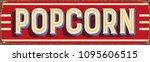 vintage style vector metal sign ... | Shutterstock .eps vector #1095606515