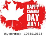 happy canada day  july 1... | Shutterstock .eps vector #1095610835