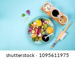 organic vegetarian salad with... | Shutterstock . vector #1095611975