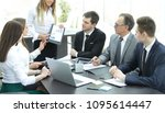 manager discussing with...   Shutterstock . vector #1095614447