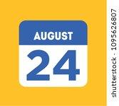 august 24 calendar date... | Shutterstock .eps vector #1095626807